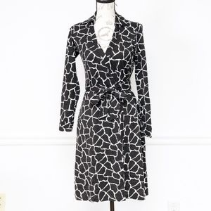 Diane Von Furstenberg silk wrap dress, size 4